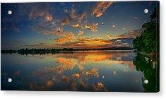 Turquoise Sunrise Acrylic Print by Dan Holland