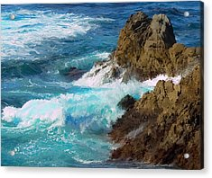 Turquoise Surf II Acrylic Print by Jim Pavelle