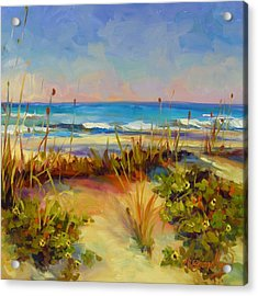 Turquoise Tide Acrylic Print by Chris Brandley