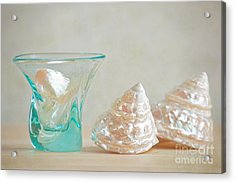 Acrylic Print featuring the photograph Turquoise Tumbler by Aiolos Greek Collections