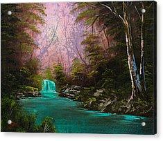 Turquoise Waterfall Acrylic Print