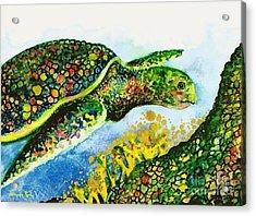 Turtle Love Acrylic Print