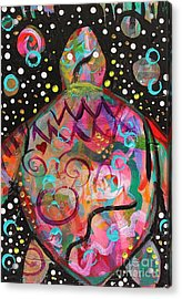 Turtle Medicine Acrylic Print by Kim Heil