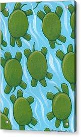 Turtle Nursery Art Acrylic Print by Christy Beckwith