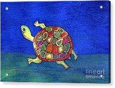 Turtle Trot Acrylic Print by Marlene Robbins