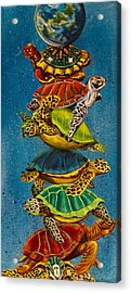 Turtles All The Way Down Acrylic Print