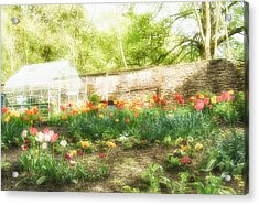 Turton Tower Garden Acrylic Print by Chris McPhee