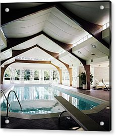 Turville Grange Pool House Acrylic Print