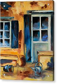 Tuscan Courtyard Acrylic Print by Elise Palmigiani