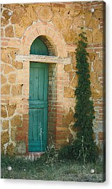Tuscan Door Acrylic Print by Clint Brewer