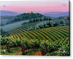 Tuscan Dusk Acrylic Print