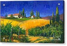 Tuscan Evening Acrylic Print by Michael Swanson