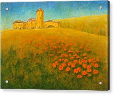 Tuscan Gold 1 Acrylic Print by Pamela Allegretto