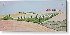 Tuscan Hillside One Acrylic Print by Mary Ellen Mueller Legault