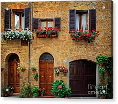 Tuscan Homes Acrylic Print by Inge Johnsson