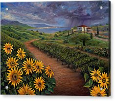 Tuscan Landscape Acrylic Print by Claudia Goodell