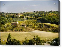 Tuscan Landscape Acrylic Print by Jim  Calarese
