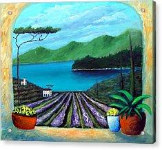 Tuscan Panorama Acrylic Print