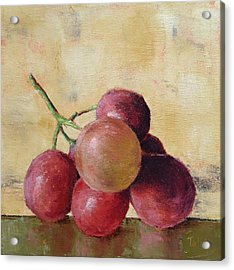 Acrylic Print featuring the painting Tuscan Red Globe Grapes by Pam Talley