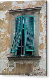 Tuscan Shutters Acrylic Print