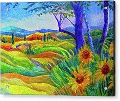 Tuscan Sunflowers Acrylic Print