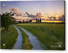 Tuscan Sunset Acrylic Print by Brian Jannsen