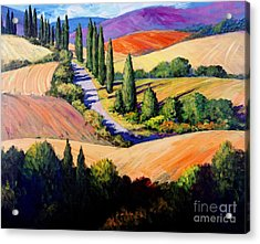 Tuscan Trail Acrylic Print by Michael Swanson