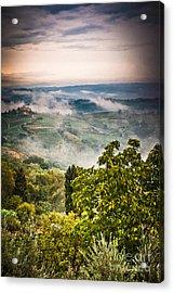Tuscan View Acrylic Print by Silvia Ganora