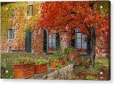 Tuscan Villa In Autumn Acrylic Print