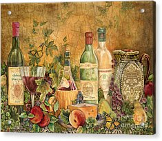 Tuscan Wine Treasures Acrylic Print by Jean Plout