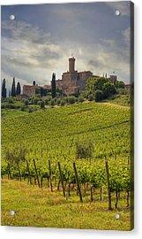 Tuscany - Castello Di Poggio Alla Mura Acrylic Print by Joana Kruse