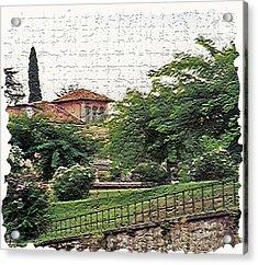 Tuscany 4 Acrylic Print by Rebecca Cozart
