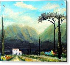 Tuscany Colors Acrylic Print by Larry Cirigliano