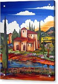 Tuscany Farmhouse Acrylic Print