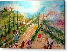 Tuscany Harvest  Acrylic Print