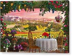 Tuscany Hills Acrylic Print
