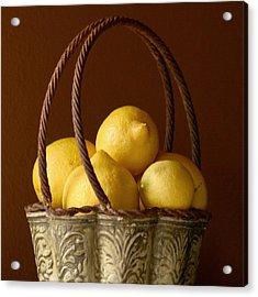 Tuscany Lemons Acrylic Print by Art Block Collections
