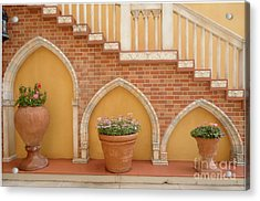 Tuscany Style Welcome Acrylic Print by Ann Johndro-Collins