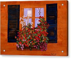 Tuscany Window Box Acrylic Print