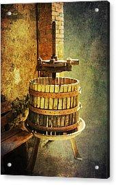 Tuscany Wine Barrel Acrylic Print