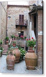 Tuscany Yard Acrylic Print by Christiane Schulze Art And Photography