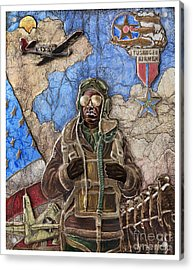 Tuskegee Airman Acrylic Print by Anthony High