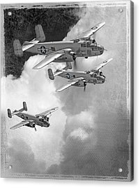 Tuskegee Airman...616th Bombardment Group Acrylic Print by Larry McManus