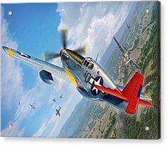 Tuskegee Airmen P-51 Mustang Acrylic Print by Stu Shepherd