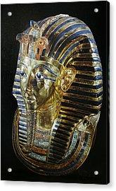 Acrylic Print featuring the painting Tutankamon's Golden Mask by Leena Pekkalainen