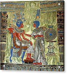 Acrylic Print featuring the painting Tutankhamon's Throne by Leena Pekkalainen