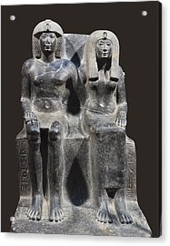 Tuthmosis Iv And His Mother Tiy. 1401 Acrylic Print by Everett
