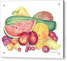 Tutti Frutti Acrylic Print by Eve-Ly Villberg