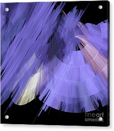 Tutu Stage Left Periwinkle Abstract Acrylic Print by Andee Design