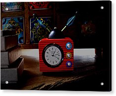 Tv Clock Acrylic Print